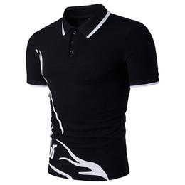 Wholesale Korean Polo Shirts - Korean Style Summer New Men Polo Printed Fashion Polo Shirts Men Short Sleeved Polos Free shipping