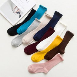 Wholesale Artistic Fashion Style - New Brand Four Seasons Mori style Cotton Artistic Women's Socks Retro Fungus Welt Princess Socks Pink Black Red Navy Coffee Lady Hosiery