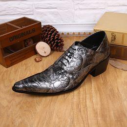 Wholesale Italian Suit 46 - 2017 Men's Fashion Custom Shoes Italian Handmade Men's Crocodile Leather Shoes Business Dress Suit Men Shoe Plus Size 38-46