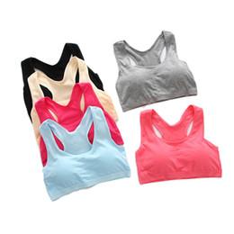 Wholesale Ladies Seamless Underwear Body - Wire Free Sexy Underwear Seamless Ladies ahh Bra Sizes Sport Yoga Bra Microfiber Pullover Bra Body Shape 6Colors Free Size 3011002