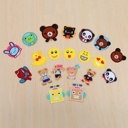 Wholesale Children Iron Sew Patches - 19pcs set Embroidered Cartoon Applique Iron On Sew On Children Clothing Patches