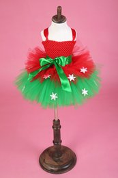 Toddler Tutu Short Girl's Vestidos del desfile 2016 Ball Gown Capas rojas y verdes Spaghetti Christams Kids Party Brithday Gowns Real Picture desde fabricantes