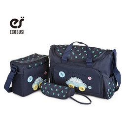 Wholesale Diaper Bag For Fashion Mummy - Wholesale-(Buy 1 gets 3) Wholesale Baby Diaper Bag For Stroller Nappy Handbags baby Bag Mummy Bags Nappy Changing Tote Shoulder Bags