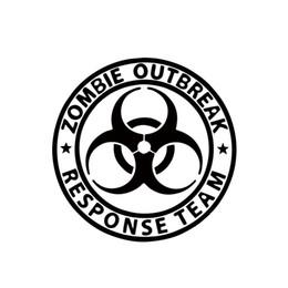 Wholesale zombie car stickers - 2017 Hot Sale Zombie Outbreak Response Team Walking Dead Car Decal Window JDM