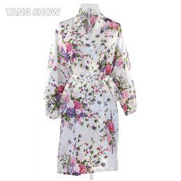 Wholesale Satin Dress Chinese - Wholesale- Vintage Ladies' Satin Short Nightgown Sleepwear Chinese Women Robe Dress Gown Vintage Kimono Yukata Lounge Nightwear Pajamas