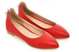 Zapatos de bajo comercio online-2017 el nuevo comercio exterior bajo nuevo estilo moda dedo del pie puntiagudo flattie zapatos de mujer solo calzado 324