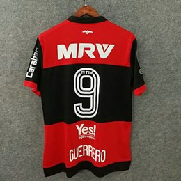 Wholesale Perfect full sponsor CR flamengo soccer jerseys retron font custom name number GUERRERO football shirts libertadores conmebol