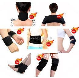 Wholesale Tourmaline Knee Pads - Wholesale- Tourmaline self-heating waist belt kneepad neck wrist ankle support shoulder pad elbow magnetic therapy Braces set health care
