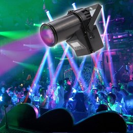 Wholesale Rgb Color Black - 2017 NEW 10W RGBW Cree lamp 4in1 LED Pinspot Light DMX 512 control LED Rain stage light KTV DJ Club Party light Decor Lighting Black MYY