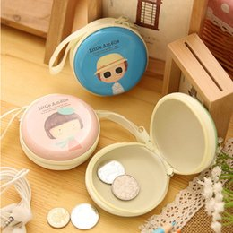 Wholesale Keys Cover Cute - Wholesale- Girl Cartoon Cute Coin Purse Holder Key Wallet Children Kids Purse Female Card Holder Bag Tinplate Headset Box Case Storage Gift