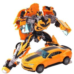 Wholesale Educational Gifts - Educational Toy for boys Transformer Toys Robot Puzzle Children new model toy Christmas gift Yellow color toys for over 3 years kids