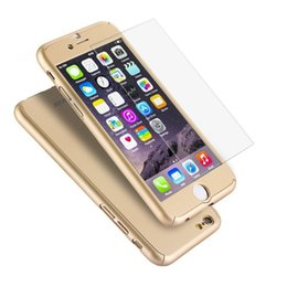 Wholesale Glasses Hard - 360 Degree Full Coverage with Tempered Glass Hard PC Cover Case For iPhone X 8 7 Plus 6 6S Samsung S7 S6 Edge