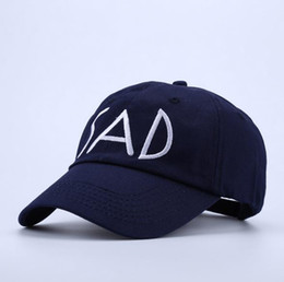 Wholesale Trendy Wholesale Embroidery - Trendy Unisex Cool Boys Girls Sad Letter Embroidery Cotton Baseball Cap Snapback Caps Hip Hop Hats Adjustable