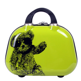 Wholesale Handbags Animal Prints - New Small Bear Cosmetic Bag Women Men Casual travel bag multi functional Cosmetic Bags storage bag Makeup Handbag Size 12Inch
