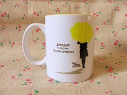 Wholesale Wholesale Umbrellas China - Wholesale- New Quality Romantical Ceramic Coffee Mug How I Met Your Mother Yellow Umbrella ---Loveful