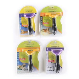 Wholesale Deshedding Brushes - Pet Grooming Brush Comb Deshedding Tool Stainless Steel Safety Blade Pet Grooming Tool For Short Long Hair Dog OOA2679