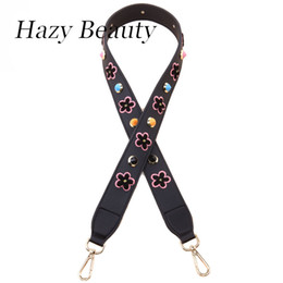 Wholesale Hazy Flower - Hazy beauty embroidery flower dot women handbag strap chic lady shoulder bag belts wide pu leather strip good quality ss286