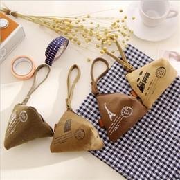 Wholesale Wholesale Designer Wallets Women - Hand Coin Wallet Bag Chinese rice dumpling Model coin purse clasps cute canvas purses women children designer brandcoin purse