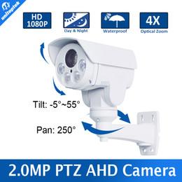 Wholesale Mini Ptz Ir - Full HD 1080P 2.0MP Outdoor Bullet 4X Optical Zoom 2.8-12mm Lens Mini PTZ Bullet AHD Camera,4PCS Array Leds,IR 30M