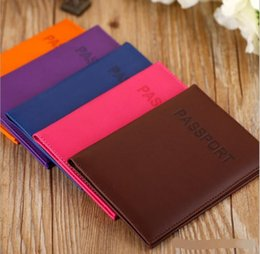 Wholesale Purse Protectors - 2017 6 Passport Wallets Card Holders holder Cover Case Protector PU Leather Travel purse wallet bag 10 Colors new arrival wholesale