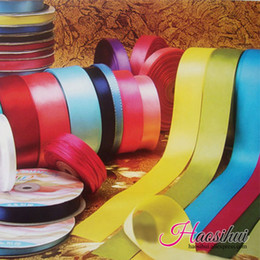 Wholesale Wholesale Silk Wrap Ribbons - (3 8'')10MM 196 Colors Pretty Silk Satin Ribbon 100yards lot Wedding Party Decoration Invitation Card Gift Wrapping