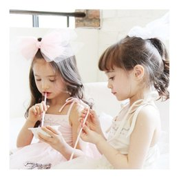 Wholesale New Hair Pins For Girls - baby Clip Lace Butterfly hairbands for hair 2017 New bow net yarn stars baby girl hair accessories Princess Children Hair Pin C063