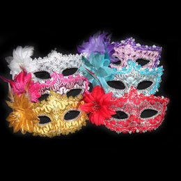 Wholesale Sexy Costumes School - Party Mask With Gold Glitter Mask Venetian Unisex Sparkle Masquerade Venetian Sexy Mask Mardi Gras Costume 170821