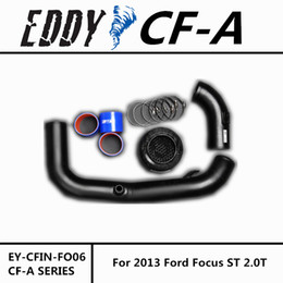 Wholesale Cold Air Intake Systems - For Ford Focus 1.6T ST 2013 EDDYSTAR CF-A Carbon Fiber Cold Air Intake System Air Filter Air Intake KIT Fast Shipping
