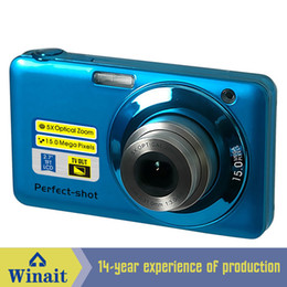 Wholesale Mini Camera Hd Optical Zoom - Wholesale-Winait hd camera 15mp 5x optical zoom mini camera digital with 2.7'' TFT display digital camera free shipping