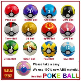 Wholesale Cute Anime Action Figure - 13 style 7cm Cute Pocket Poke Ball Pokeball Mini Model Classic Anime Pikachu Super Master Ball Action Figures Toys Gift Kids