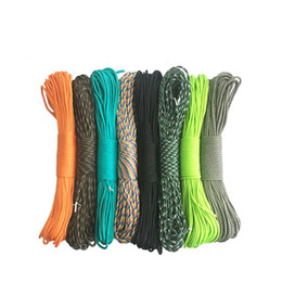 Wholesale Ice Climbing Equipment - 416 colors Paracord 550 Parachute Cord Lanyard Rope Mil Spec Type 7 Strand Cord 100FT 31m Climbing Camping survival equipment