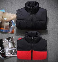 Wholesale Men S Short Down Jacket - 2017 new autumn winter men's White duck down vest casual thickening lovers short jacket women black red Stitching Waistcoat
