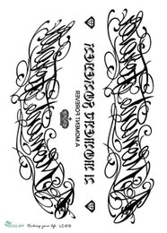 Wholesale Tattoos Designs Sketches - Wholesale- LC2819 21*15cm Large Fashion Tatoo Sticker Sketch Big Flower English Letters Crown Designs Cool Temporary Tattoo Stickers New