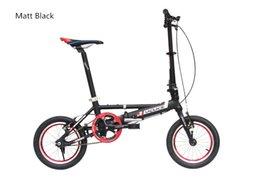 Wholesale Cheap Bike Forks - Cheap shipping single Speeds 14 inches Folding Bike, Folding bicycle , Aluminum Alloy Body, Both Disc Brakes Ally Fork