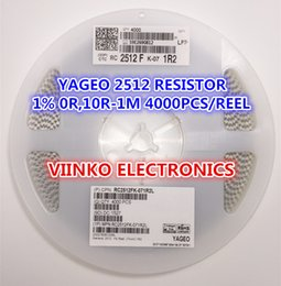 Wholesale 1w Resistors - Wholesale- Free shipping full reel 1% 2512 1M 1W SMD Chip Resistor 4000pcs reel YAGEO New Original Chip Fixed Resistor