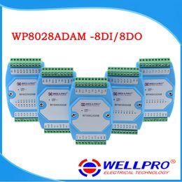 Wholesale Io Module - RS485 Remote Digital IO 8DI 8DO Input and Output Module Isolated Modbus RTU DIN PLC IPC DCS Automation Control Systerm