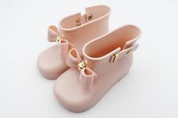 Argentina Melissa jalea zapatos bebé niños arcos botas de lluvia niñas antideslizante princesa botas cortas niños jalea botas de agua moda niña zapatos T3895 Suministro