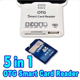 Wholesale Multi Data - Faster speed 5 in 1 memory external reader micro phone USB data transfer card cellphone reader
