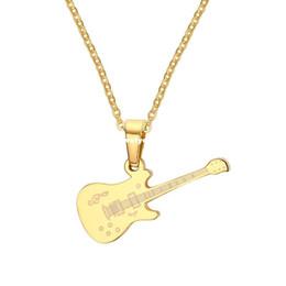Wholesale Couple Music - Meaeguet Punk Cool Music Pendant For Women Man Summer Style Couple Guitar Pendants Necklaces Jewelry