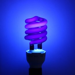Wholesale E27 Uv Light - Wholesale- 220V 36W 40W E27 Ultraviolet UV Spiral Energy Saving Black Light Lamp With Traps Insects Stage fluorescent Lighting Bulb On Sale