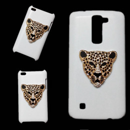 Wholesale Iphone Tiger Metal - 3D Bling Luxury Deluxe Rhinestones Diamonds Tiger Head Hard Back Skin Shell Case Cover for iPhone 6 6s Plus 7 Plus 8 Plus X LG G4 G5 G6