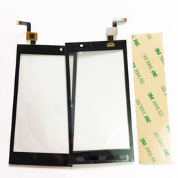 Wholesale Micromax Screen Glass - Wholesale- 4.5 inch Touchscreen For Micromax A104 Canvas Fire 2 Smartphone Touch Screen Panel Glass Sensor With Digitizer +3M Tape
