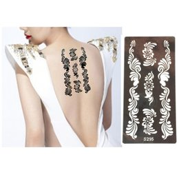 glitter butterflies Coupons - Wholesale-Henna Tattoo Stencil Glitter Painting Template Mehndi Airbrush Glitter Temporary Body Art Flower Butterfly Stencils For Painting