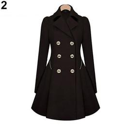 Оптовая продажа-2017 новый женская мода отворотом длинные зимние пальто двубортные пиджаки Slim Fit пальто пыли от