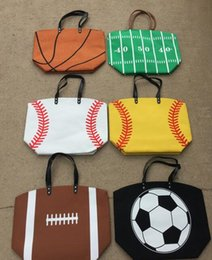 Wholesale Wholesale Tote Bags For Women - wholesale stitching bags baseball women & Kids Cotton Canvas Sports Bags Baseball Softball Tote Bag for Children