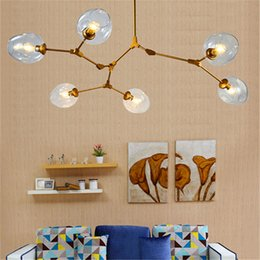 Wholesale new touch lamps - New Lindsey Adelman Globe Branching Bubble Chandelier Glass Chandelier Suspension Hanging Pendant Light Glass Pendant Lamp 1 5 7 8 Heads