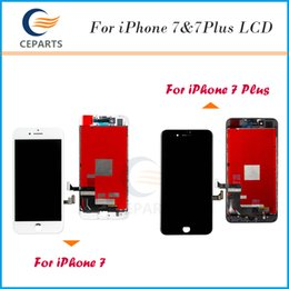 Wholesale Topping Display - Black&White LCD Display For Apple iPhone 7 7 Plus LCD Touch Screens Assembly Digitizer No Dead Pixels Top AAA Quality Fast DHL Shipping