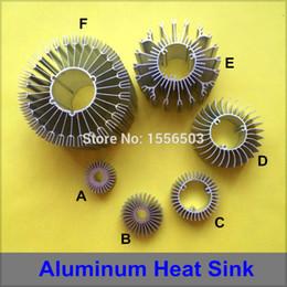 Wholesale Led Diy Heatsink - Wholesale- 20 PCS LED Aluminum Radiator Heat Sink High Power Cooler Heatsink Radiating Base for Lamp DIY 1W 3W 5W 7W 9W 12W 15W 18W 24W