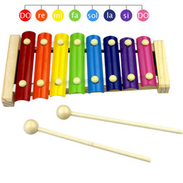sticks musical instruments Coupons - New Baby Kid Musical Toys Xylophone Wisdom Development Wooden Instrument musical instrument toy with 1 Pair Wood Stick
