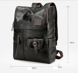 Wholesale Laptop Rhinestones - Vintage Genuine Leather Backpack for Men as Laptop School College Bookback for Travelling Camping Notebook Computer 15.6 Inches bag106